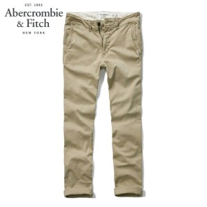 【15%OFFセール 3/24 20:00~3/29 1:59】 アバクロ Abercrombie&Fitch 正規品 メンズ チノパン A&F SKINNY CHINOS 130-307-0281...