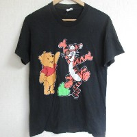 USA製■Charactersディズニー/ヴィンテージTシャツ 【M】黒90'S【中古】