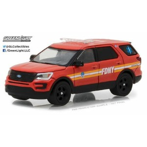 1/64 2016 Ford Interceptor Utility Official Fire Dept City of New York (FDNY) with Squad No. Decal...