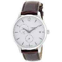 ティソ Tissot 腕時計 メンズ 時計 Tissot Tradition GMT Leather Mens Watch - Black