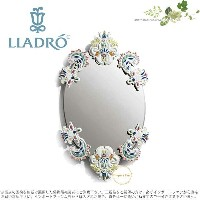 リヤドロ バロック・ミラー(オーバル) 01007834 LLADRO OVAL MIRROR WITHOUT FRAME (MULTICOLOR) □