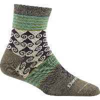 ダーンタフ Darn Tough メンズ インナー ソックス【Swirl Print Shorty Light Sock】Taupe