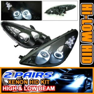 Lexus ES330 ヘッドライト 2 Sets HID 05-06 ES300 ES330 CCFL Halo Projector Lights 2セットは05-06 ES300 ES330...