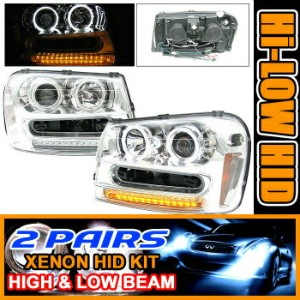 Chevrolet Trailblazer ヘッドライト 2 Sets HID 02-05 Trailblazer Halo Projector Headlights 2セットは02...