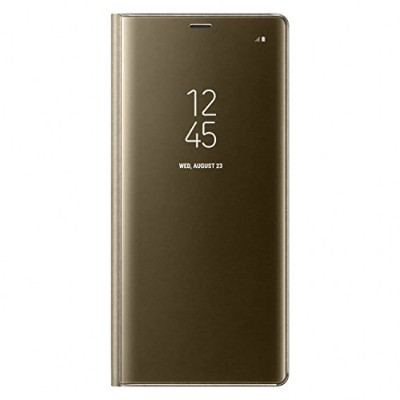 Galaxy Note8用 Clear View Standing Cover【Galaxy純正 国内正規品】ゴールド EF-ZN950CFEGJP