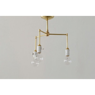 ACME FURNITURE アクメファニチャー SOLID BRASS LAMP 3ARM Porcelain ソリッドブラスランプ3アームポーセリン ペンダントライト