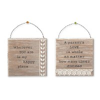 Parents Mini Signs - Set of Two - 4.5 X 4.5 Inches by Grasslands Road
