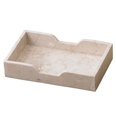 Creative Home Champagne Marble Guest Towel Tray - Plain