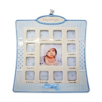 Nat and Jules Baby's First Year Frame, Blue by Nat and Jules [並行輸入品]