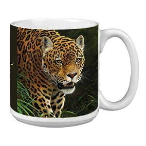 Tree-Free Greetings Extra Large 20-Ounce Ceramic Coffee Mug, Classic Collection Jaguar Themed...