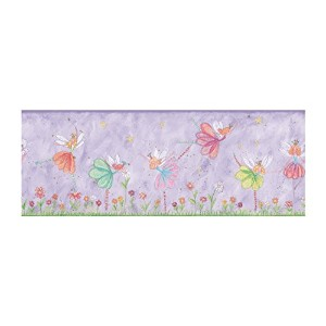 York Wallcoverings KZ4223BSMP York Kids IV Fairy Border Wallpaper Memo Sample, 8-Inch x 10-Inch ...