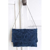 【送料無料】nesessaire〈ネセセア〉Shantou handkerchief clutch bag NV