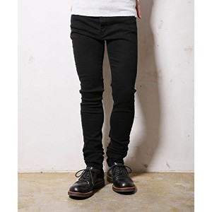(ミスターオリーブ) MROLIVE M-3211 SUPER STRETCH BLACK DENIM /OVERDYED SKINNY PANTS 29(S)サイズ ブラック