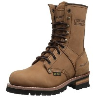 "AdTec Women's 9"" Logger Work Boot, Brown, 6.5 M US"