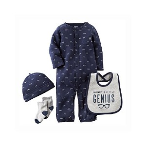 Carter's Baby Boy Mommy's Little Genius Glasses Coverall Set, 9 Months by Carter's