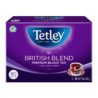 Tetley British Blend Premium Black, 80-Count Tea Bags, 7 Ounce, (Pack of 6) by Tetley