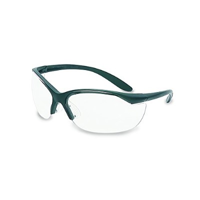 UVEX by Honeywell 11150910 Vapor II Series Safety Eyewear, Black Frame, Clear Lens with Anti...