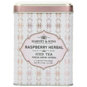 Harney & Sons, Iced Tea, Fresh Brew Herbal, Raspberry Herbal, 6 - 2 Quart Tea Bags, 3 oz