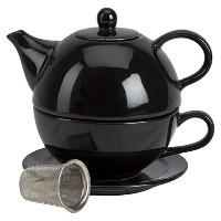 Tea for One with Infuser ブラック 1500187