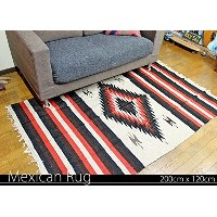 RUG&PIECE Native Mexican Rug ネイティブ柄 メキシカンラグ 200cm×120cm (rug-5837)