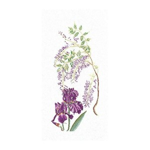 Thea Gouverneur クロスステッチ刺繍キットNo.825 「Wisteria-Iris」 花 藤とアイリス オランダ テア・グーヴェルヌール 【取り寄せ/納期40~80日程度】