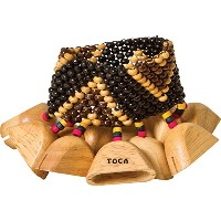 TOCA ウッド・ラトル T-WRA Wooden Rattles with Wrist/Ankle Strap
