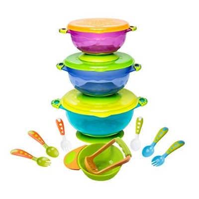 Baby Feeding Bowls with Baby Utensils - Ultimate Baby Feeding Set | Mash and Serve Bowl | Baby...