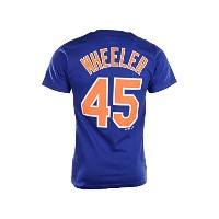 Zach Wheeler # 45ニューヨーク・メッツMLBメンズPlayer Name & Number Tシャツ( Large )