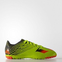 Adidas Kids Messi15.3 Turf Shoes - YOUTH (Semi Solar Slime - Infrare) /サッカーシューズ メッシ15.3 TF ターフ用...