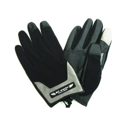 MC works'/MCワークス ライトグローブ(LIGHT GLOVE) (BLACK&GREY, L)