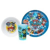 Zak! Designs Mealtime Set includes Plate, Bowl and Tumbler with Paw Patrol Graphics, Break...