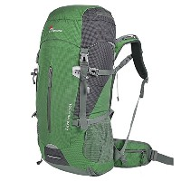 2015 Mountaintop 50L 旅行用バックパック 防水 登山 バックパック リュック ザック レインカバー 付き (グリーン)