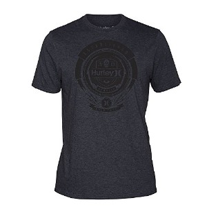 (ハーレー) Hurley Turbine Flyer Bannered Premium T-Shirt バーナードプレミアム (Heather Black, US:M) [並行輸入品]