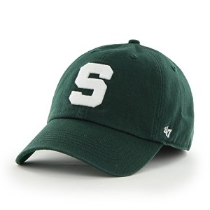NCAA Michigan State Spartans ' 47Franchise Fitted帽子、ダークグリーン、Xラージ