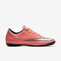 Nike Mercurial Victory V Leather Kids' Indoor/Court Football Shoe(Bright Mango/Hyper Turquoise...