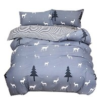 Zhhlaixing 高品質 Super soft Cotton Fitted Sheet Duvet Cover Pillowcase Bedding Set Simple Fashion...
