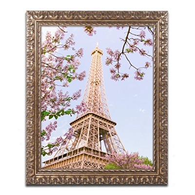 商標Fineアートam0271-g1114 F Eiffel Tower in Spring byアリアンMoshayedi 11x14 AM0271-G1114F