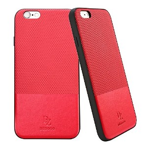 GR iPhone 6 Plus&6s Plus TPU + PCビジネススタイルレザーウェアインパクトコンビネーション保護ケース ( Color : Red )