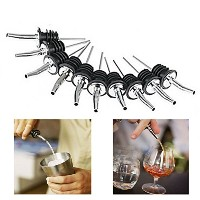 10PCS Stainless Steel Wine Bottle Spouts Spirit Champagne Liquor Pourer Free shipping ステンレス ボトル...