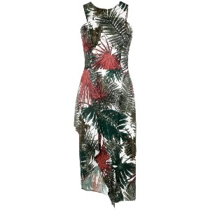 Tufi Duek - foliage print midi dress - women - ポリエステル/ビスコース - 44