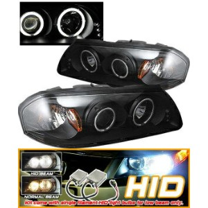 Chevrolet Impala ヘッドライト HID 00-05 Impala CCFL Halo Projector Headlights Black HID 00-05インパラCCFLヘイロープ...