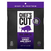 【海外直送品】【3袋セット】REAL JERKY Co. CHEF'S CUT Smoked Beef SWEET and SPICY 2.5oz