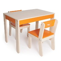 Little One's Table and Chairs - Orange by Rosenberry Rooms