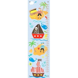 Oopsy daisy Collage Pirate Boys Growth Chart by Rachel Taylor, 12 by 42 Inches by Oopsy Daisy