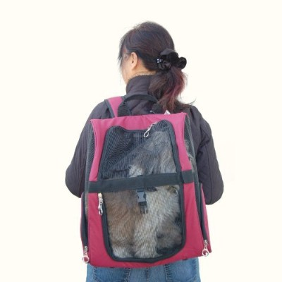 Backpack Pet Carrier - Burgundy by Anima