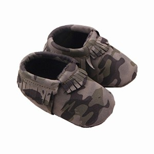 Zerowin Baby Toddler Warm Shoes Pu Leather Tassels Camouflage Prewalker Winter Boots Soft Crib...