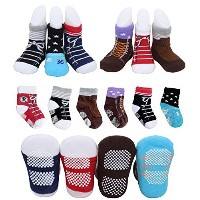 Pro1rise? 6 Pairs Toddler Baby Boys Antislip Skid Sneakers Shoe Socks Age 12-24 Months by Pro1rise