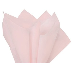 1 X Blush Pink Tissue Paper 20 X 30 - 48 Sheet Pack by Premium Tissue Paper
