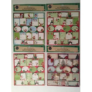 80 PIECE CHRISTMAS PLAIN & GLITTERED GIFT TAG PACK (styles & packs may vary) by Greenbrier