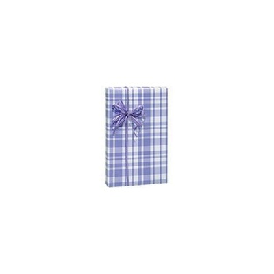 Lavender Light Purple Plaid Gift Wrap Wrapping Paper Roll 16 Foot by Buttons Bags and Bows